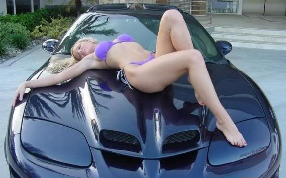 sexy girl with trans am