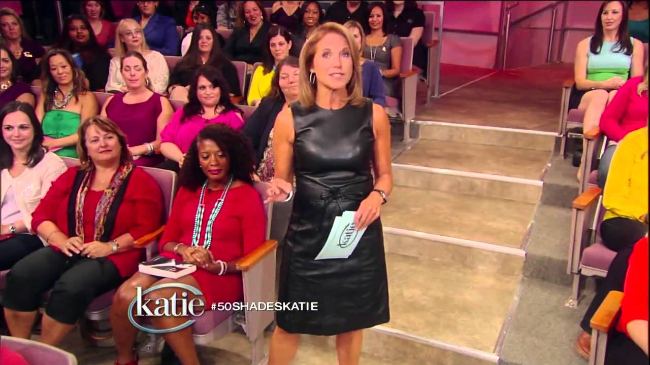 katie couric in leather